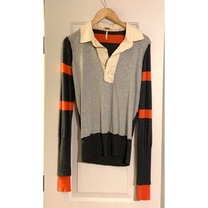 Free People Rugby Stripe Sweater